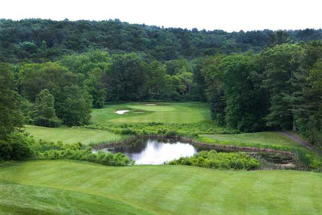 A view of green #12 at Bradford Country Club
