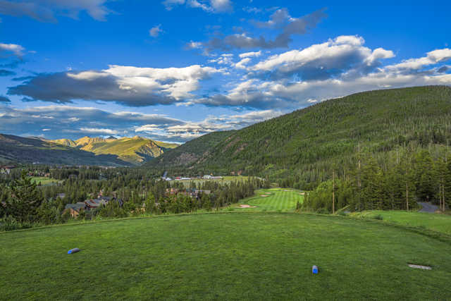 View from the 1st tee on the River Course at Keystone