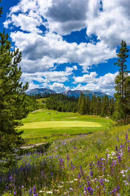 River Course at Keystone: 1st green