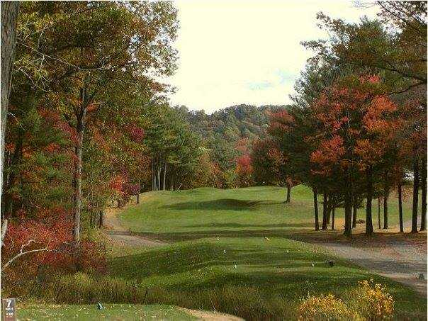 A view from tee #7 at Hawk's Landing Country Club