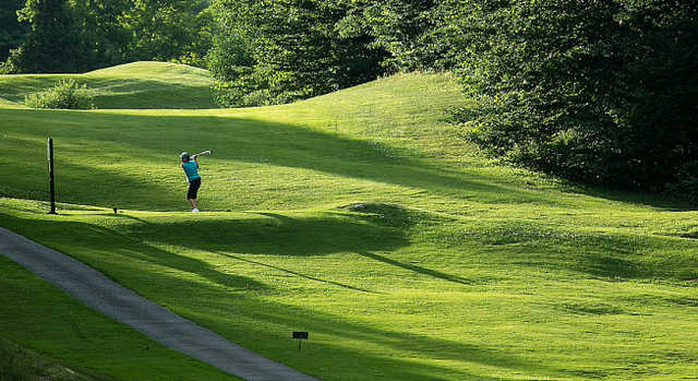 A view of a tee at Killington Golf Resort