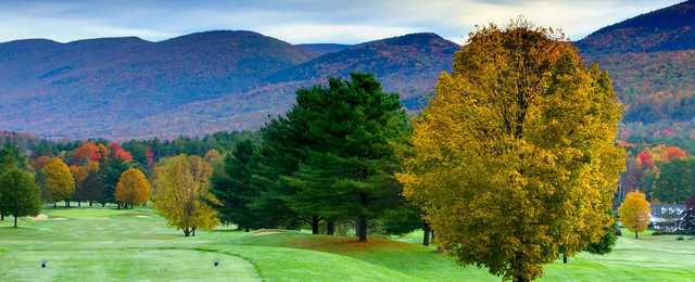 A view from a tee at Manchester Country Club