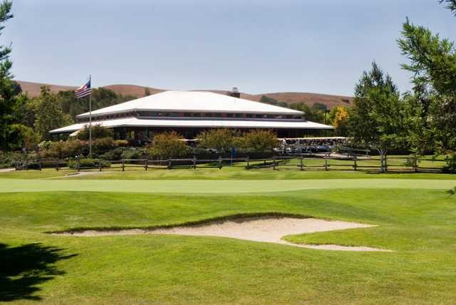 A view of the clubhouse at Spring Valley Golf Course