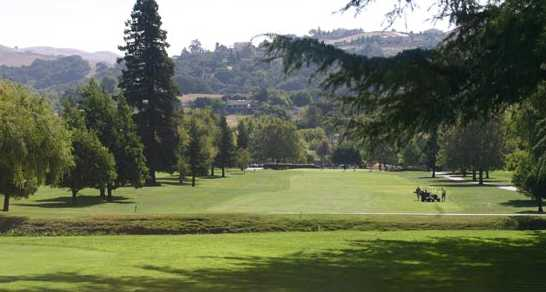 A view of the 9th green at Spring Valley Golf Course