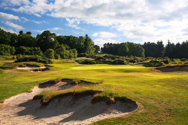 """No. 8 on the Duke's course - """"Fair Dunt"""" can be an understatement with this uphill par 3, which can frustrate with prevailing winds."""