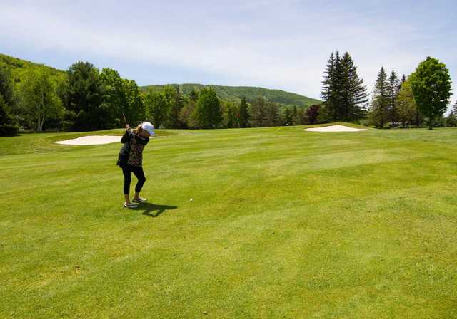 A view from a fairway at Windham Country Club