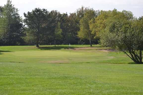 A view of a hole at Newport Golf Club
