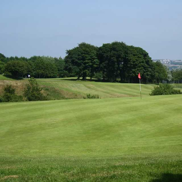 A view of the 3rd green at Express Golf Centre