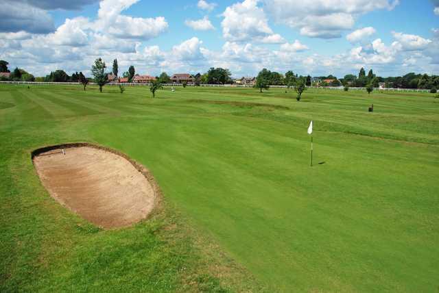 A view of a hole at Sandown Park Golf Centre