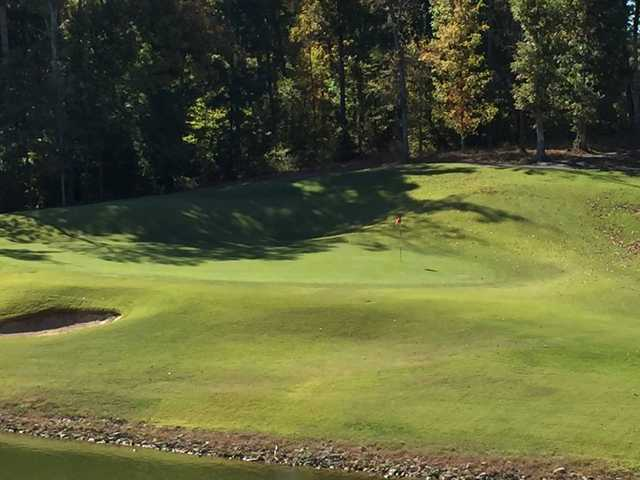 A view of a hole at Mineral Mound State Park Golf Course.