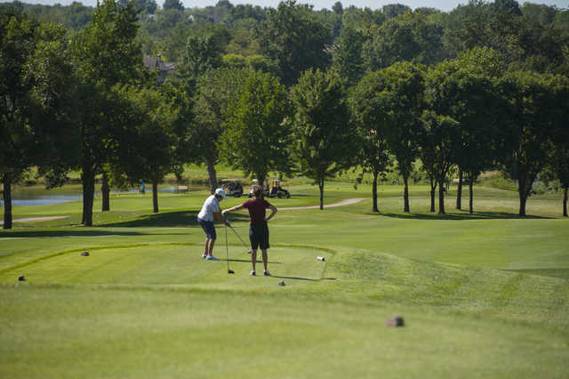 A view of a tee at the Country Club of Missouri