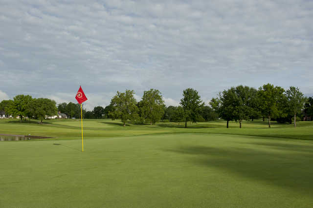 A view of a hole from the Country Club of Missouri