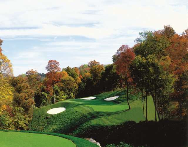 A fall day view from Olde Stonewall Golf Club