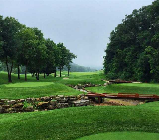 A view from a tee at Lewis and Clark from Country Club of St. Albans