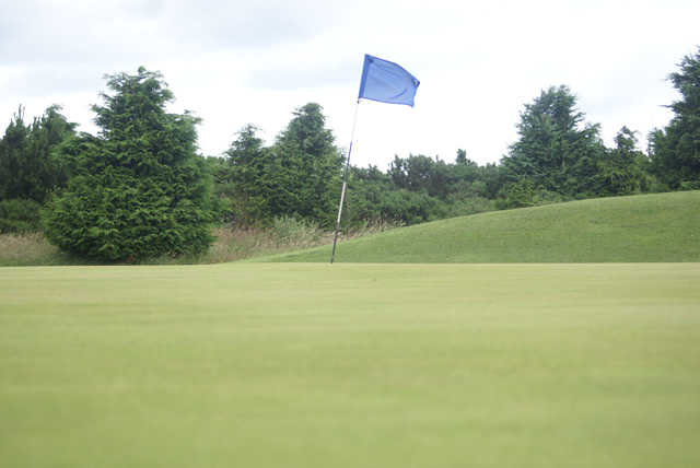 A view of a hole at Djouce Golf Club