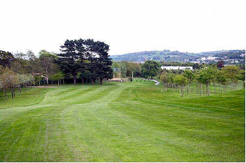 A view from fairway #1 at Mahon Golf Club
