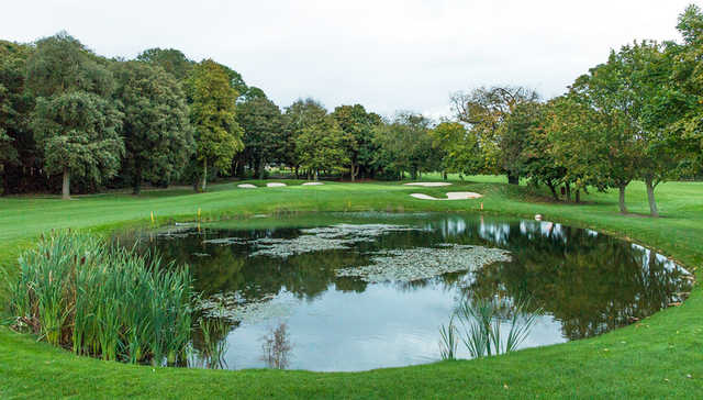 A view over a pond at Malahide Golf Club