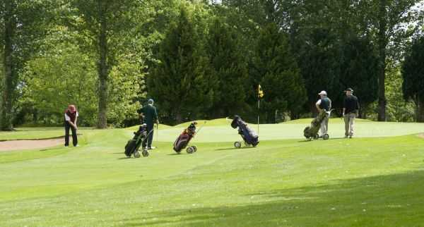 A view of green #1 at Rathdowney Golf Club