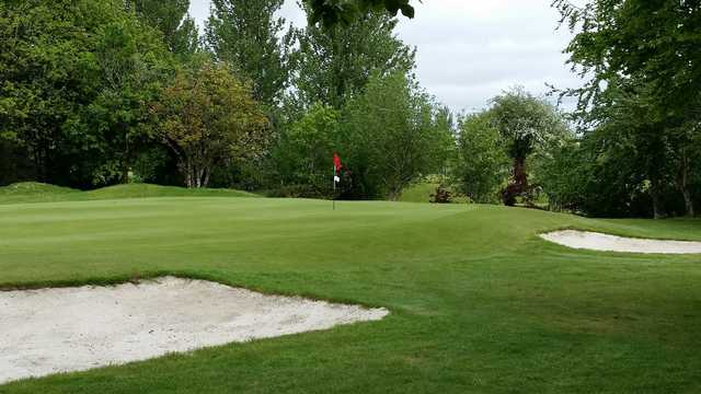 A view of a well protected hole at Tuam Golf Club