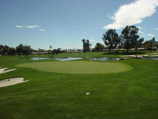 A view of a green from Palm Desert Country Club