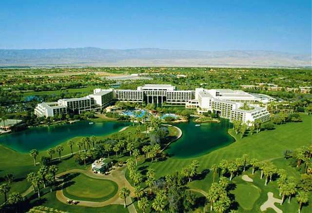 Aerial view from Marriott's Desert Springs Resort