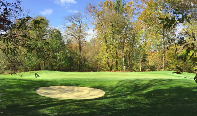 A fall day view from Twin Bridges Golf Club.