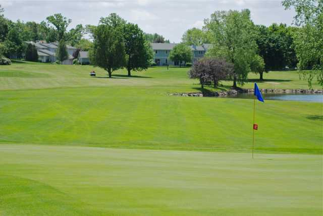 A view of a green at Delbrook Golf Club
