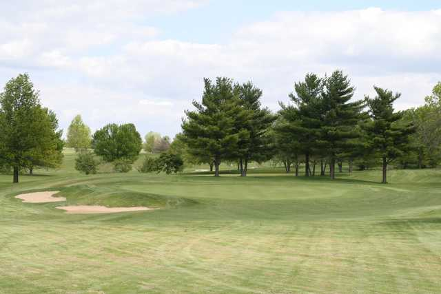 A view of a green at Kellogg Golf Course
