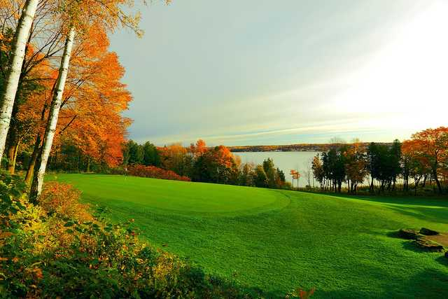 A view of green #11 at Peninsula State Park Golf Course