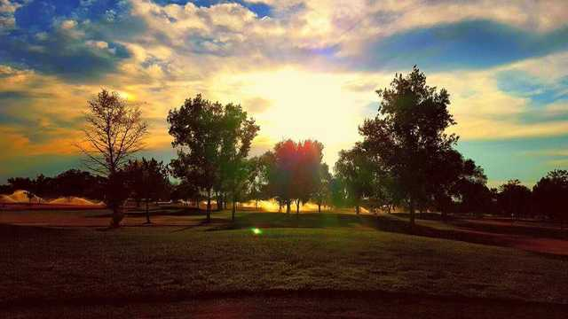 A sunny day view from Silver Sage Golf Course