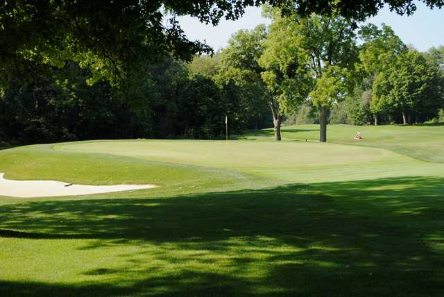 A view of the 7th green at Tippecanoe Lake Country Club