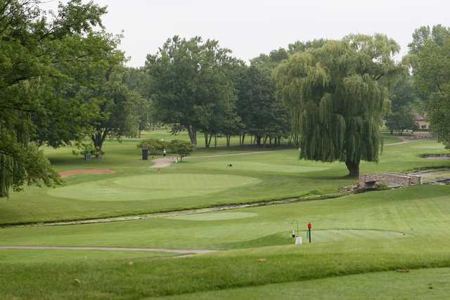 A view from a tee at McHenry Country Club