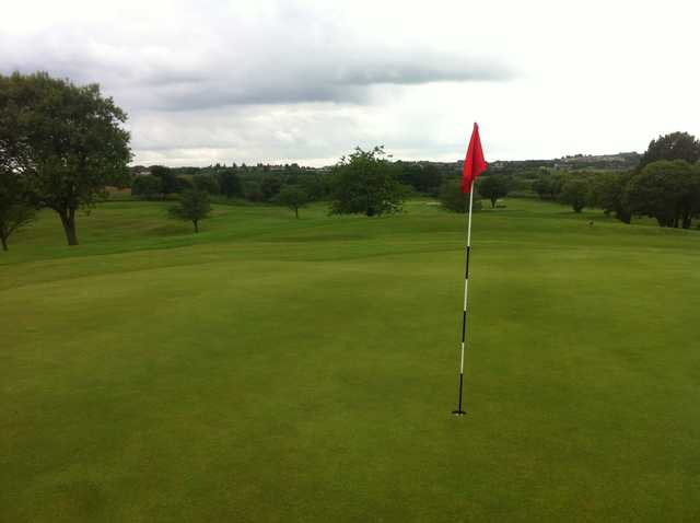 View from a green at Lochgelly Golf Club