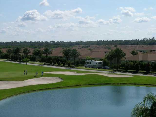 A view of a green at Lake Ashton Golf Club