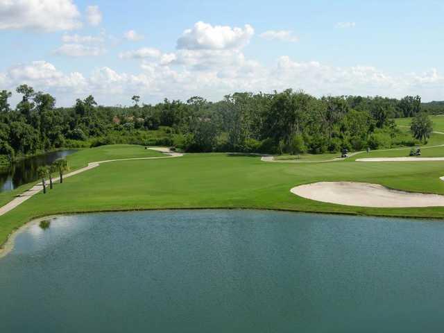 A view of a hole at Lake Ashton Golf Club