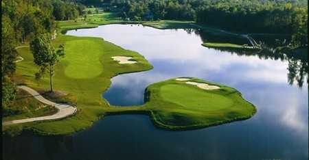 Aerial view of greens at Ford's Colony at Williamsburg - Blackheath Course