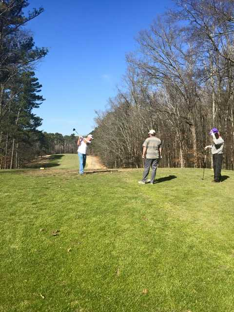A view from a tee at Paris Landing State Park Golf Course