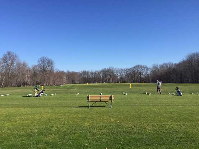 A view of the driving range from Avalon at Buhl Park Golf Course