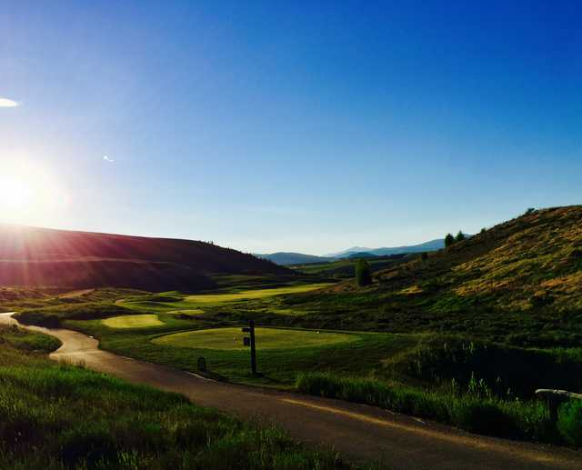 View from the 1st tee box at Golf Granby Ranch