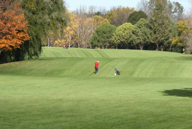 A view of a fairway at Lincoln Park Golf Course