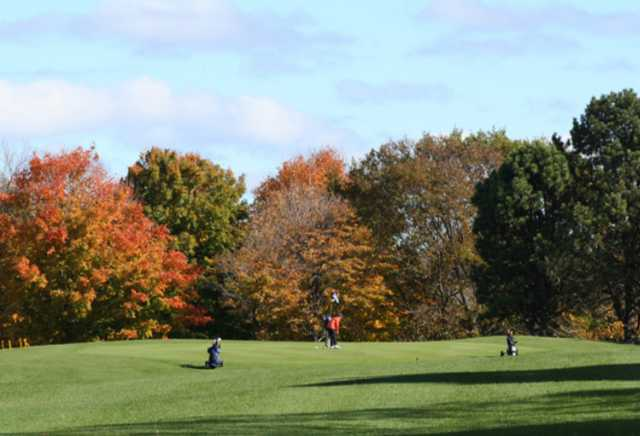 A view of a green at Lincoln Park Golf Course