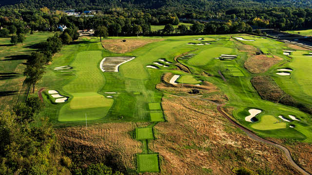 Aerial view from the Oakmont Country Club