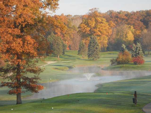 A fall day view from Pottawattomie Country Club