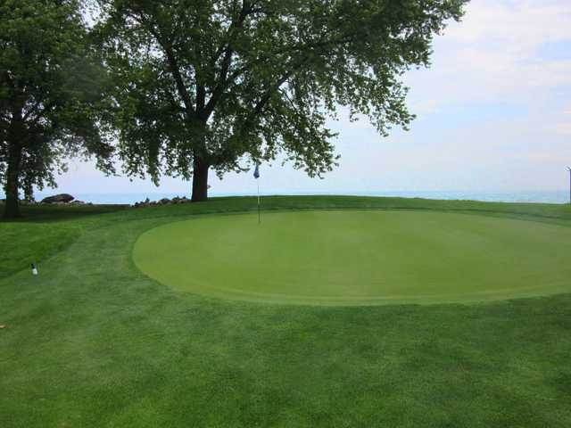 A view of a hole at South Shore Golf Club