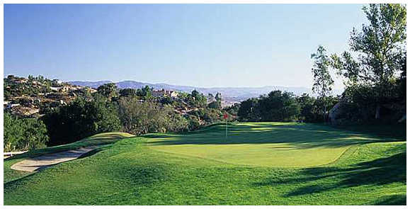 A view of green #14 at Mt. Woodson Golf Club