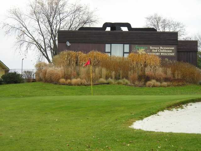 A view of the 9th hole at Sunset Nine from Saugeen Golf Club
