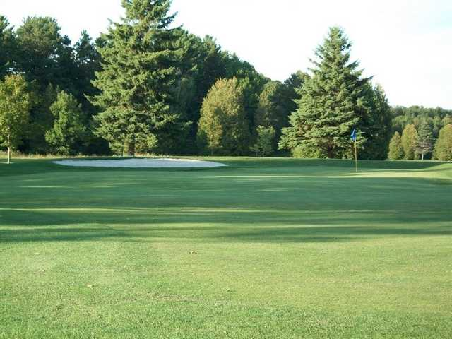 A view of the 1st green at Legacy Nine from Saugeen Golf Club