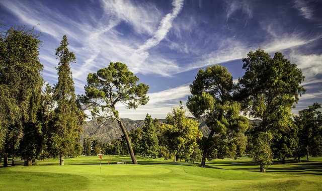 A view of a green from Harding at Griffith Park Golf Courses