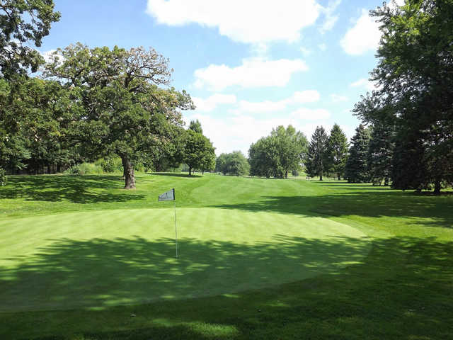 A view of the 6th green at Wing Park Golf Course
