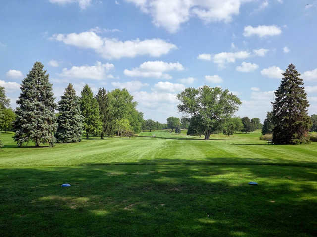 A view from tee #7 at Wing Park Golf Course